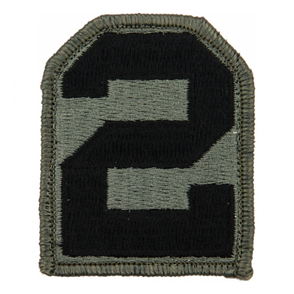 2nd Army Patch Foliage Green (Velcro Backed)