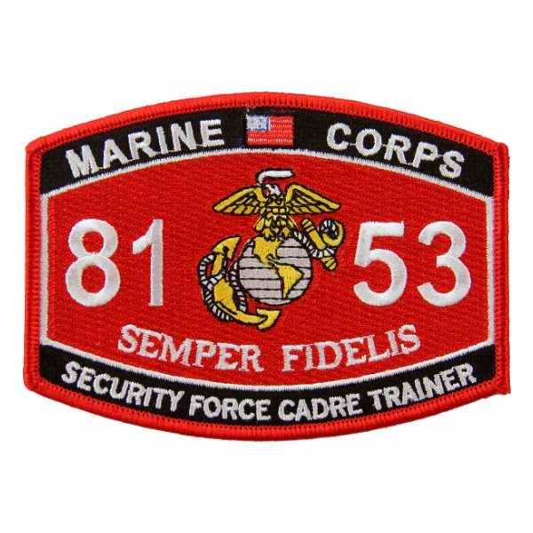USMC MOS 8153 Security Force Cadre Trainer Patch