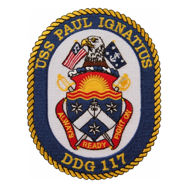 USS Paul Ignatius DDG-117 Ship Patch