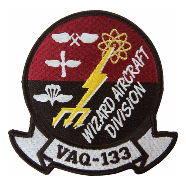Navy Tactical Electronic Attack Squadron VAQ-133 Patch (Wizard Aircraft Division)