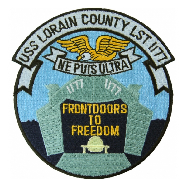USS Lorain County LST-1177 Ship Patch