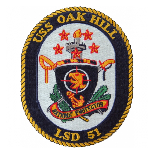 USS Oak Hill LSD-51 (Nations Protector) Ship Patch