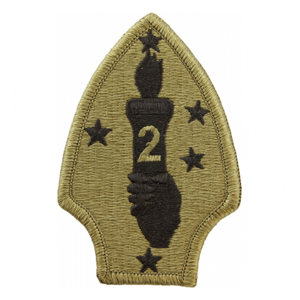 2nd Marine Division Scorpion / OCP Patch With Hook Fastener