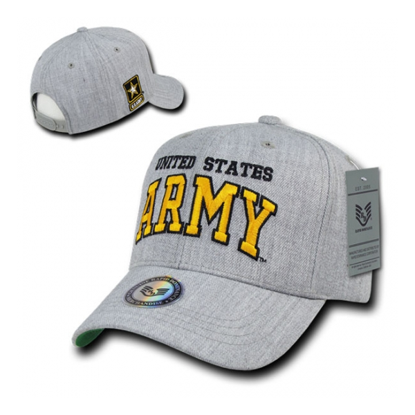 Block Letter Army Logo Cap (Heather Grey)