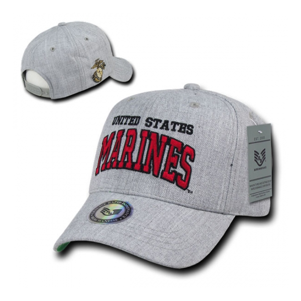 Block Letter Marines Logo Cap (Heather Grey)