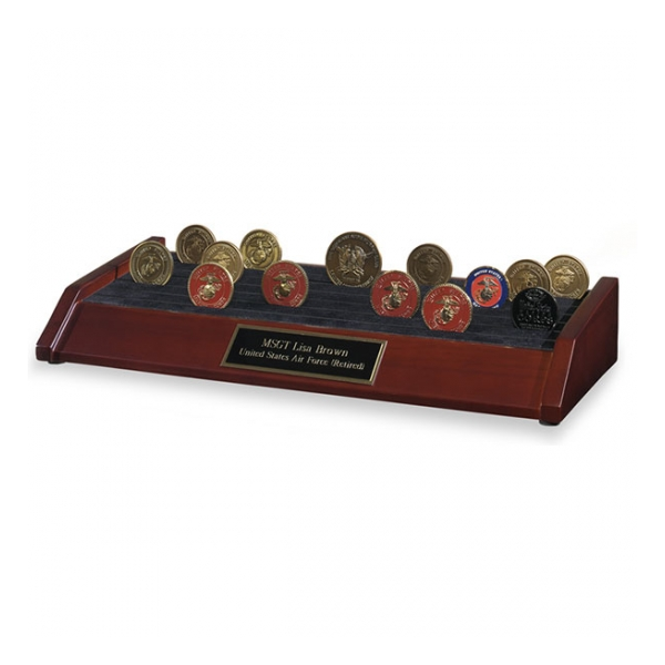 6 Row Challenge Coin Rack Display