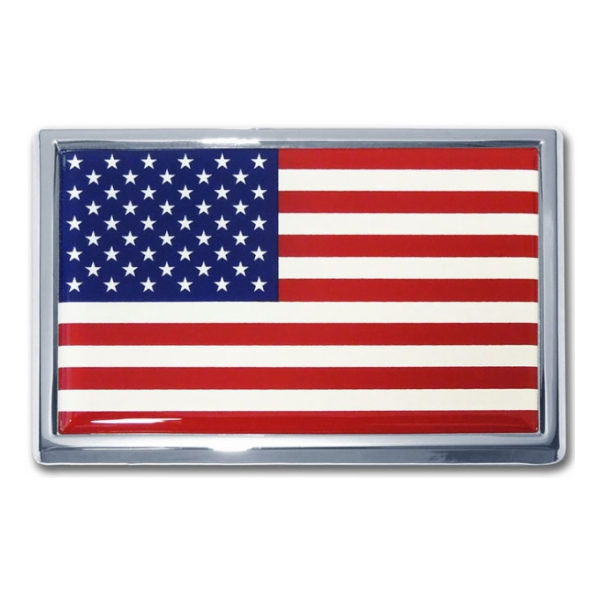 American Flag Automobile Emblem