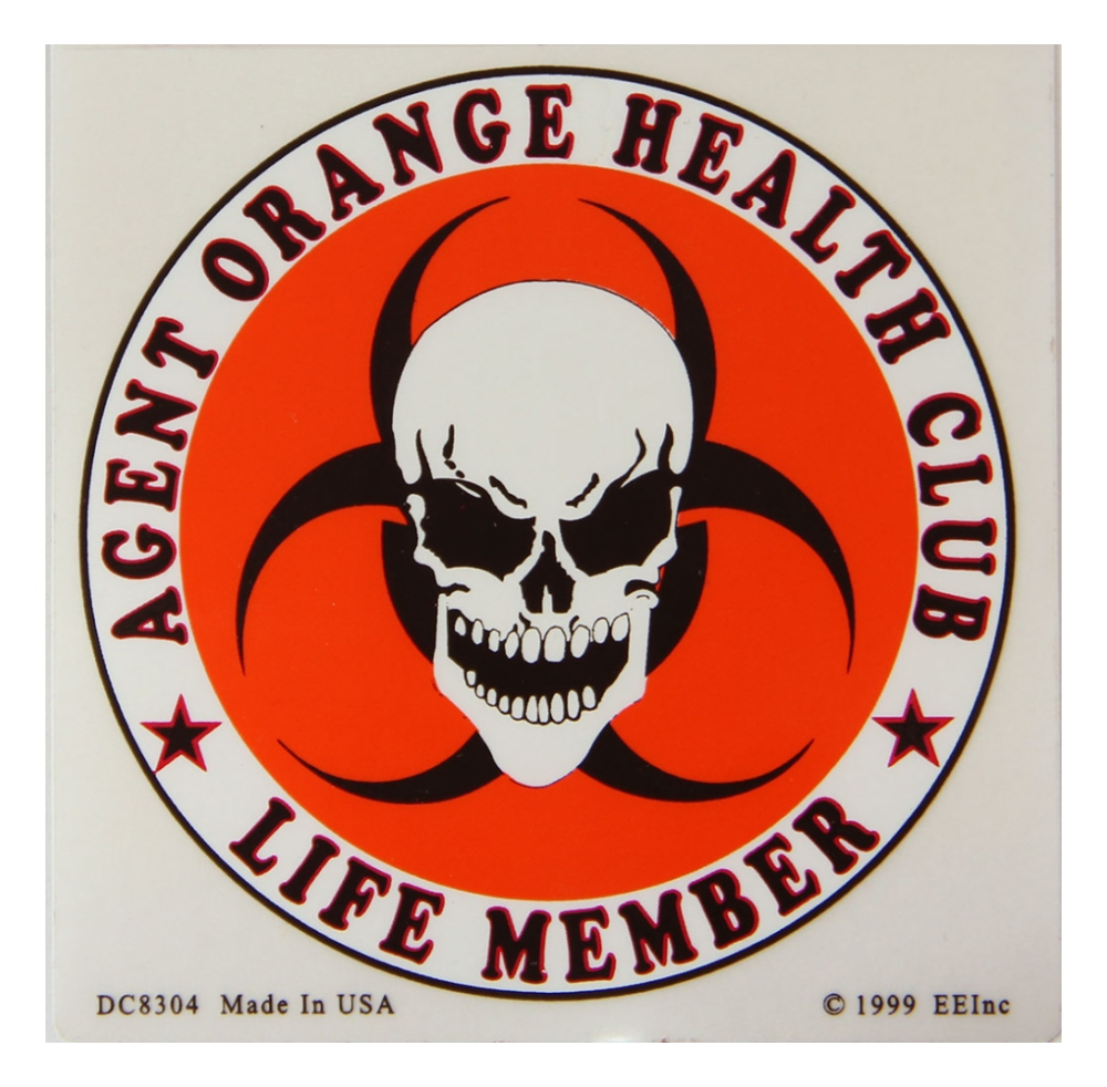 Agent Orange Health Club Life Member Outside Window Decal