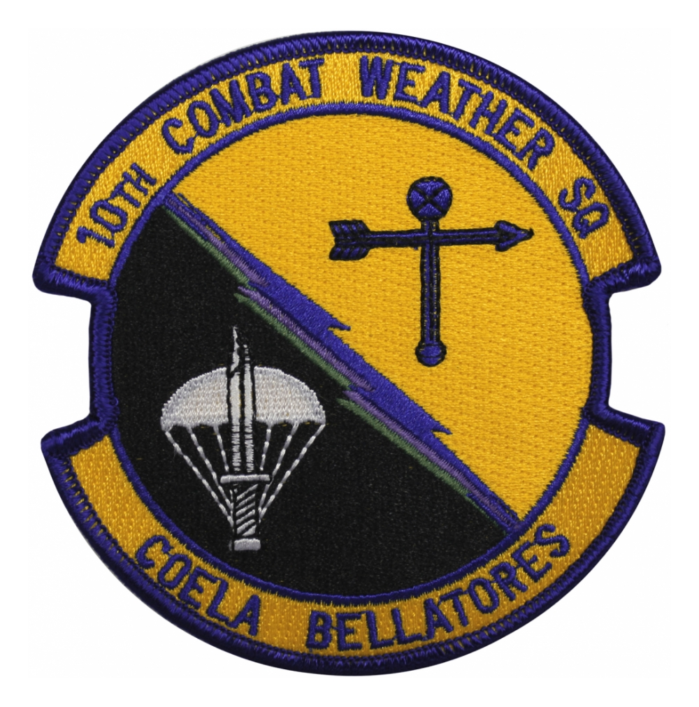 Air Force 10th Combat Weather Squadron Patch Flying