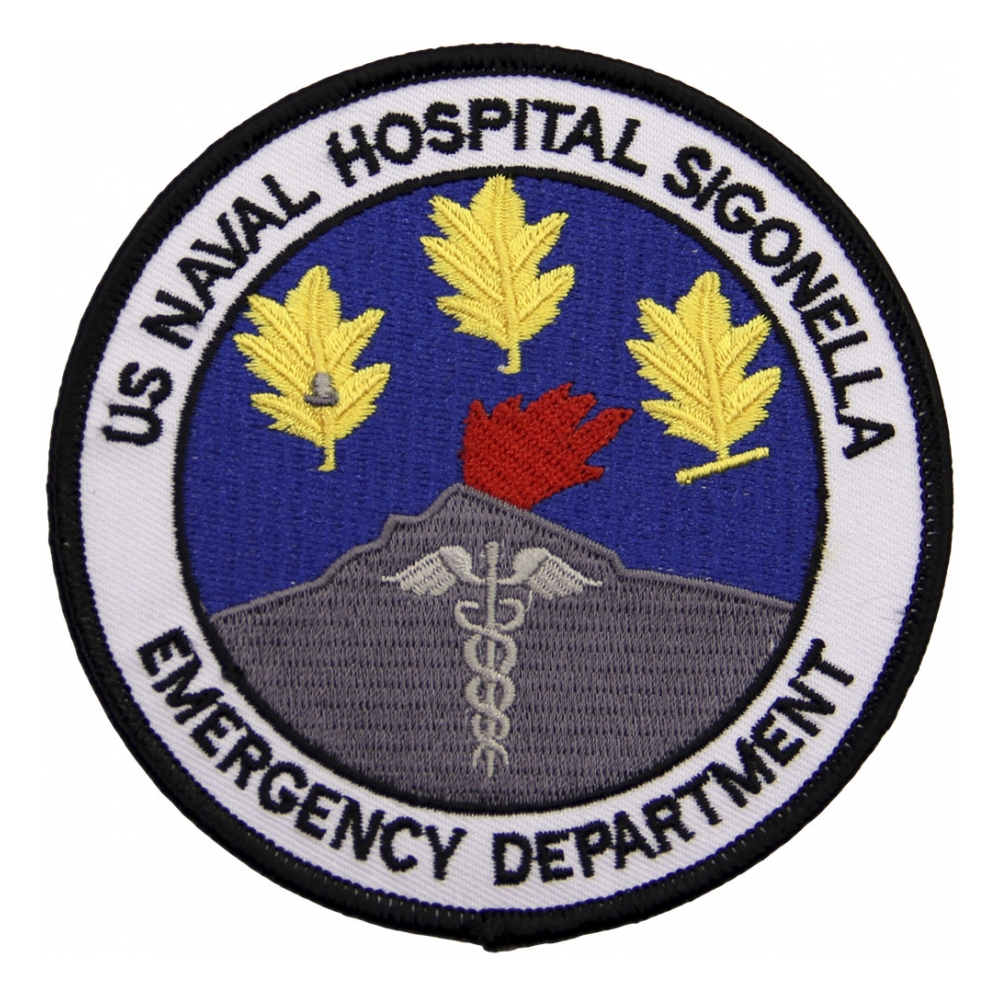Assorted navy patches flying tigers surplus us naval hospital sigonella emergency department patch biocorpaavc Gallery